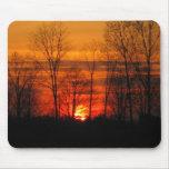 Cojín de ratón de la puesta del sol tapetes de ratón