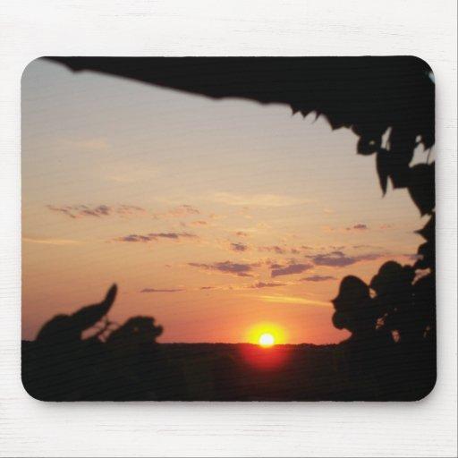 Cojín de ratón de la puesta del sol alfombrilla de raton
