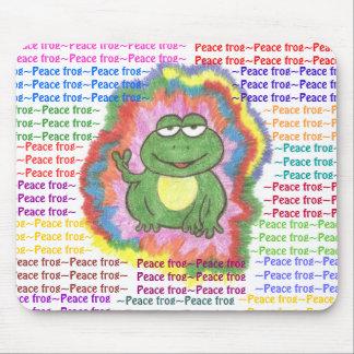 Cojín de ratón de la rana de la paz tapete de ratón