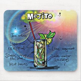 Cojín de ratón de la receta de la bebida de Mojito Mouse Pad
