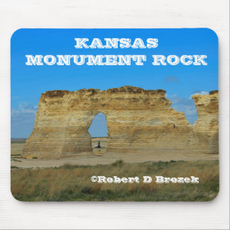 Cojín de ratón de la roca del monumento de Kansas Alfombrilla De Raton