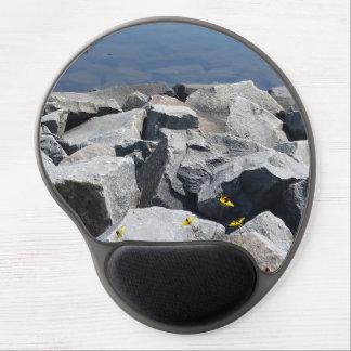 Cojín de ratón de la roca del pétalo alfombrilla para ratón de gel
