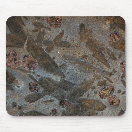Cojín de ratón de la roca metamórfica tapete de ratón