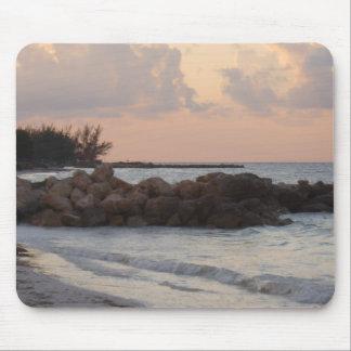 Cojín de ratón de la salida del sol de Jamaica Tapete De Ratón