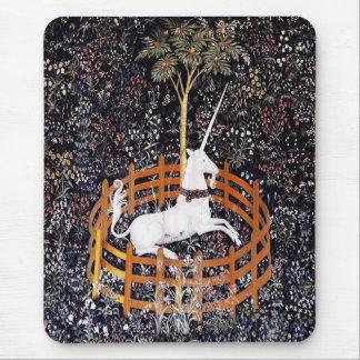 Cojín de ratón de la tapicería del unicornio alfombrilla de ratón