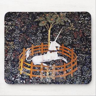 Cojín de ratón de la tapicería del unicornio tapetes de raton