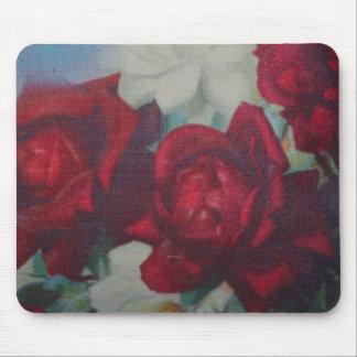 Cojín de ratón de la tela del vintage de los rosas tapetes de raton