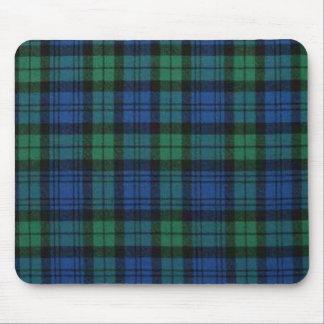 Cojín de ratón de la tela escocesa de tartán de Ca Tapete De Ratón