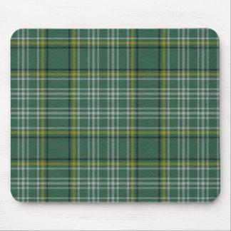 Cojín de ratón de la tela escocesa de tartán de Cu Tapetes De Ratones