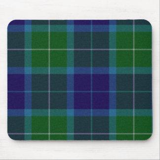 Cojín de ratón de la tela escocesa de tartán de Wa Tapetes De Raton