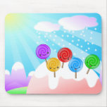 Cojín de ratón de la tierra del Lollipop Tapete De Ratón