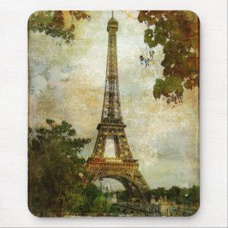 Cojín de ratón de la torre Eiffel del vintage Alfombrilla De Raton