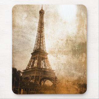 Cojín de ratón de la torre Eiffel del vintage Tapetes De Raton