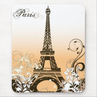 Cojín de ratón de la torre Eiffel del vintage Alfombrillas De Ratones