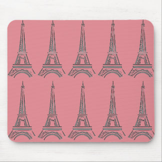 Cojín de ratón de la torre Eiffel Mouse Pads