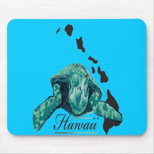 Cojín de ratón de la tortuga de Hawaii Alfombrillas De Raton