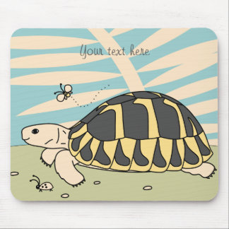 Cojín de ratón de la tortuga de Hermann adaptable Mousepad