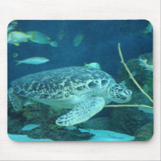 cojín de ratón de la tortuga de mar alfombrilla de ratones