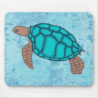Cojín de ratón de la tortuga de mar del orgullo de alfombrillas de raton