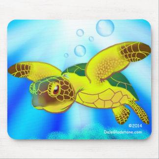 Cojín de ratón de la tortuga de mar tapetes de ratones