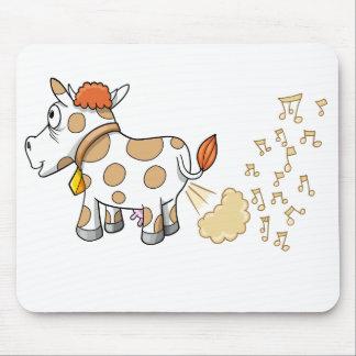 Cojín de ratón de la vaca el Farting de la música Tapetes De Ratones