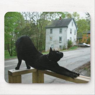 Cojín de ratón de la yoga del gato tapete de ratón