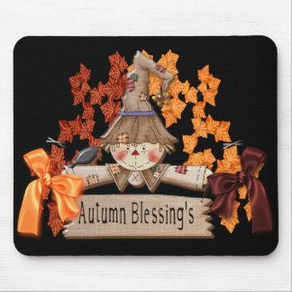 cojín de ratón de las bendiciones del otoño tapete de raton