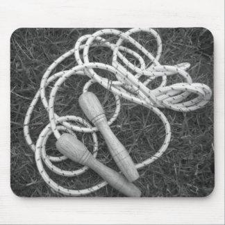 Cojín de ratón de las cuerdas que saltan alfombrilla de ratones