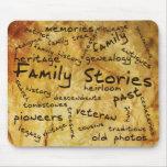 Cojín de ratón de las historias de la familia tapetes de ratón