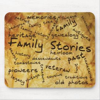 Cojín de ratón de las historias de la familia tapete de ratones