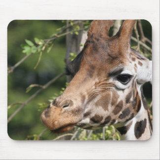 Cojín de ratón de las imágenes de la jirafa alfombrilla de raton