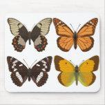 Cojín de ratón de las mariposas alfombrilla de raton
