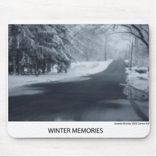 Cojín de ratón de las memorias del invierno alfombrillas de raton