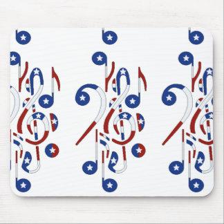 Cojín de ratón de las notas musicales de los E.E.U Tapete De Ratón