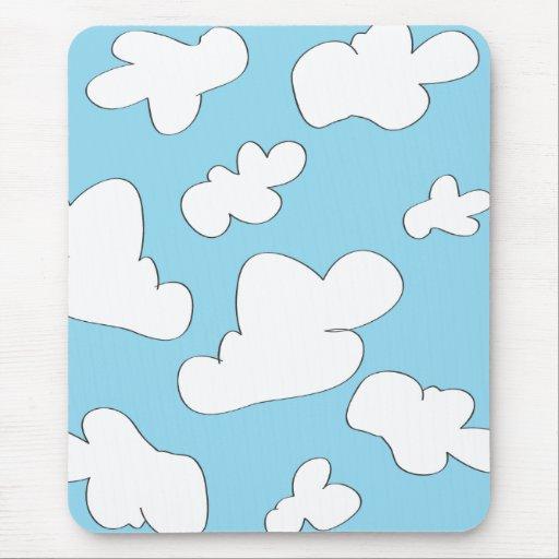 Cojín de ratón de las nubes tapetes de raton