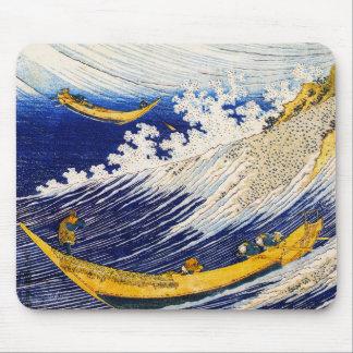 Cojín de ratón de las olas oceánicas de Hokusai Tapete De Ratones