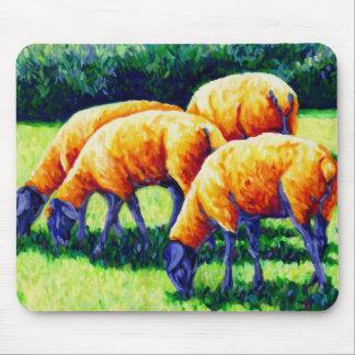 Cojín de ratón de las ovejas de Flamin Alfombrillas De Raton