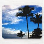 Cojín de ratón de las palmas de Hawaii del cielo a Alfombrilla De Raton