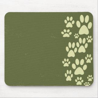 Cojín de ratón de las patas del verde verde oliva tapete de ratón