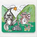 Cojín de ratón de los amigos del bosque tapete de ratones