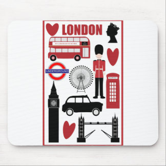 Cojín de ratón de los ejemplos del amor de Londres Tapete De Raton