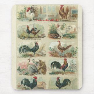 Cojín de ratón de los gallos de las Ephemeras del  Tapete De Ratón