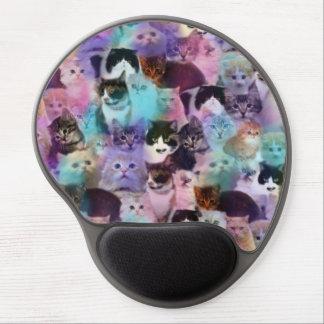 cojín de ratón de los gatos alfombrillas de ratón con gel