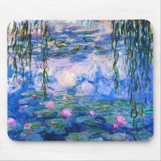Cojín de ratón de los lirios de agua de Monet Tapete De Raton