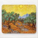 Cojín de ratón de los olivos de Van Gogh Alfombrilla De Raton