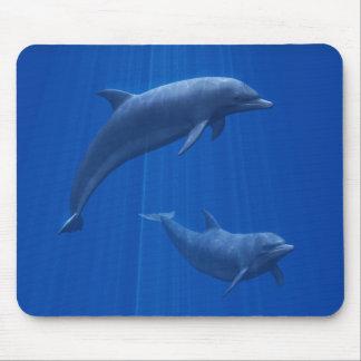 Cojín de ratón de los pares del delfín tapetes de raton