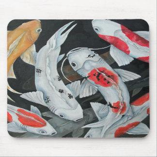 Cojín de ratón de los pescados de Koi 9 Mousepad
