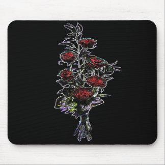 Cojín de ratón de los rosas del ramo que brilla in alfombrillas de ratón