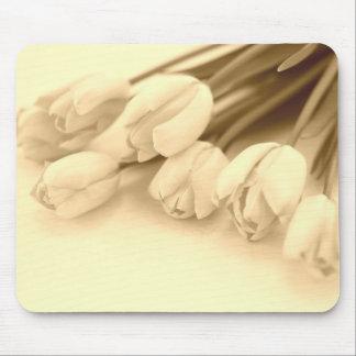 Cojín de ratón de los tulipanes tapete de ratón