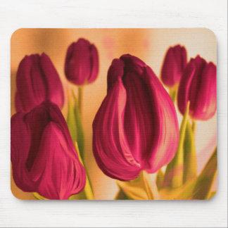 Cojín de ratón de los tulipanes tapetes de ratones